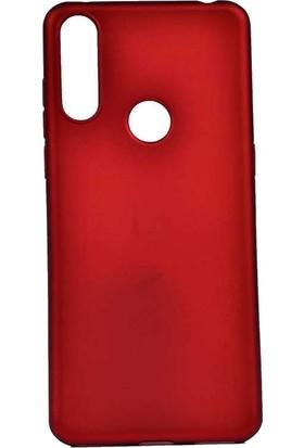 Teleplus Alcatel 3X 2019 Kılıf Lüks Silikon + Nano Ekran Koruyucu Kırmızı