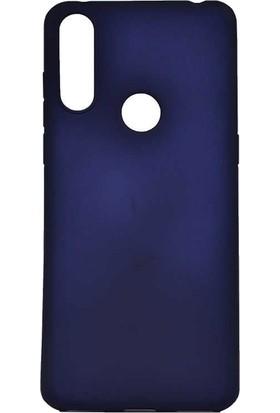 Teleplus Alcatel 3X 2019 Kılıf Lüks Silikon + Nano Ekran Koruyucu Lacivert