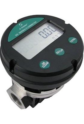 """S-Meter SG-025-DAI 1"""" LCD Oval Dişli Sayaç"""