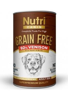 Nutri Canin Geyik Etli Tahılsız Yetişkin Köpek Konservesi 400 gr