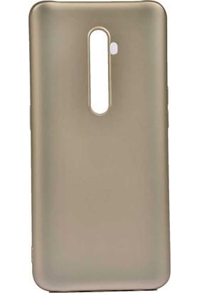 Teleplus Oppo Reno 2 Kılıf Lüks Mat Silikon Gold