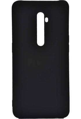 Teleplus Oppo Reno 2 Kılıf Lüks Mat Silikon + Nano Ekran Koruyucu Siyah