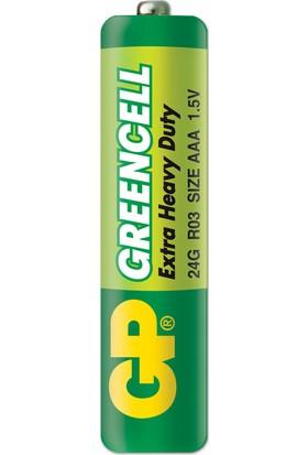 GP 12'li Greencel AAA Boy İnce Çinko Karbon Pil (GP24G-VS12)