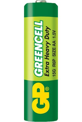 GP 12'li Greencell AA Boy Kalem Çinko Karbon Pil (GP15G-VS12)