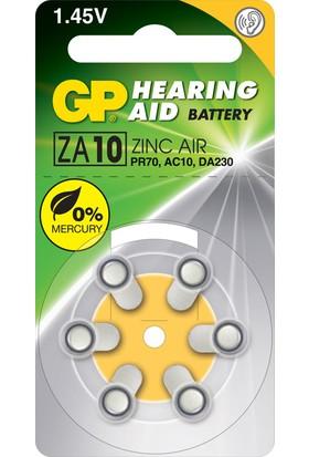 GP 6'lı ZA10 1.4V Düğme Kulaklık Pili (GPZA10-D6)