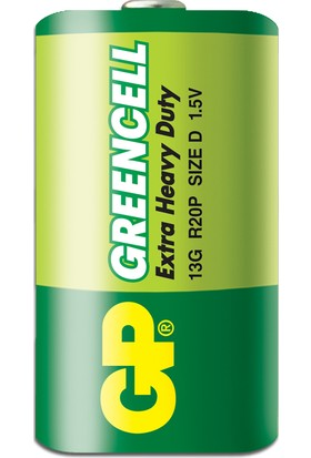 GP 20'li Greencel D Boy Kalın Çinko Karbon Pil (GP13G-2S20)