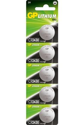 GP 5'li CR2430 3V Lityum Düğme Pil (GPCR2430-C5)