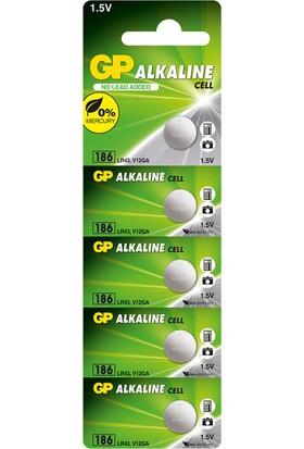 GP 5'li LR43 Alkalin Düğme Pil (GP186-C5)