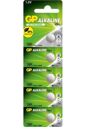 GP 5'li LR54 Alkalin Düğme Pil (GP189-C5)