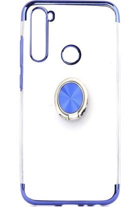 Happyshop Xiaomi Redmi Note 8T Kılıf 4 Köşe Renkli Yüzüklü Manyetik Gess Silikon+Cam Ekran Koruyucu