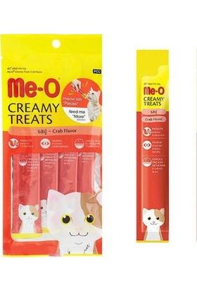 Me-O Creamy Treats Yengeç Etli Yaş Kedi Ödül Maması 15 gr x 4