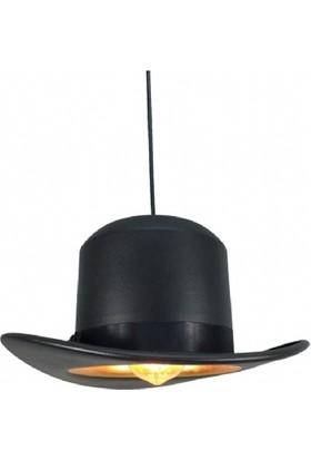 Seldur Şapka Avize Serisi Siyah Sarkıt