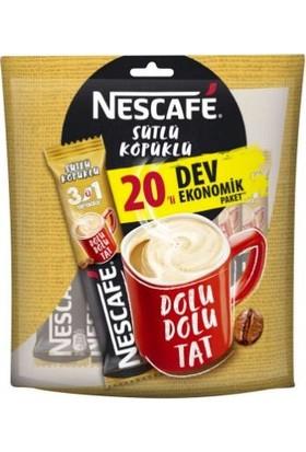 Nescafé 3'ü 1 Arada Sütlü Köpüklü 20x17.4 gr Çoklu Paket