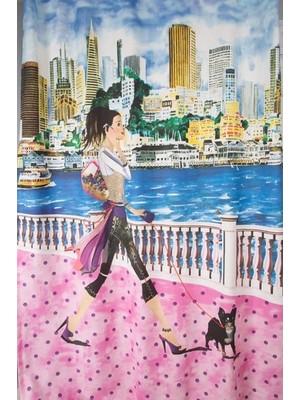 Premier Home Fon Perde Köpekli Kız 170 x 270 cm