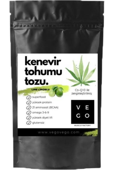 Vegovego Kenevir Kendir Tohumu Tozu - Lime Limon Aromalı 100 g