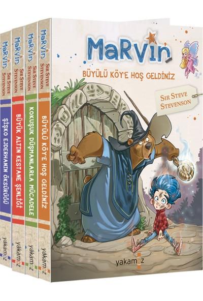 Marvin Fantastik Roman Seti (4 Kitap Takım) - Sır Steve Stevenson