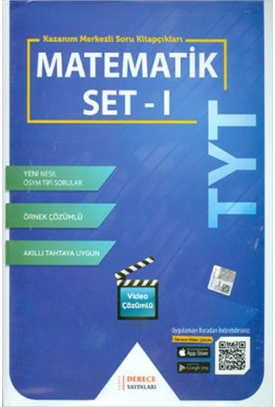 Derece Yayınları DRC TYT Matematik Modüler Set -I- 2020-2021
