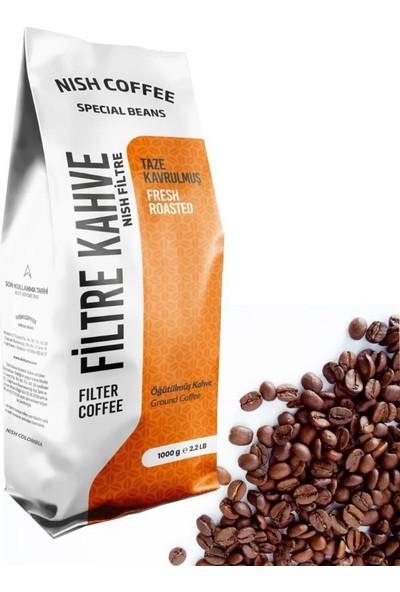 Nish Kahve Filtre Kahve Nish Özel Seri Colombia 1 Kg Kağıt Filtre İçin Çekilmiş