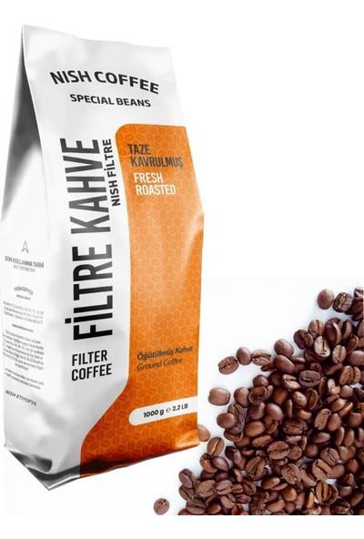 Nish Kahve Filtre Kahve Nish Özel Seri Etiyopya 1 Kg Çekirdek Kahve