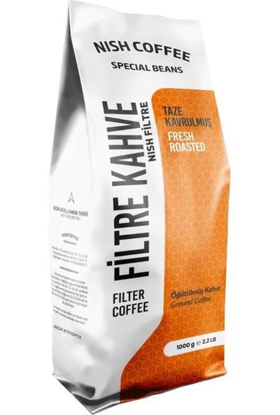 Nish Kahve Filtre Kahve Nish Özel Seri Etiyopya 1 Kg Kağıt Filtre İçin Çekilmiş