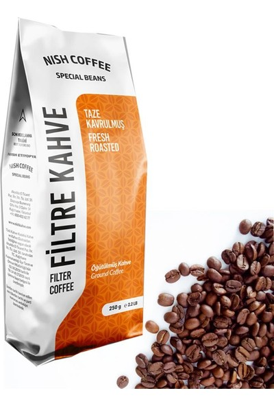 Nish Kahve Filtre Kahve Nish Özel Seri Etiyopya 250 gr Kağıt Filtre İçin Çekilmiş