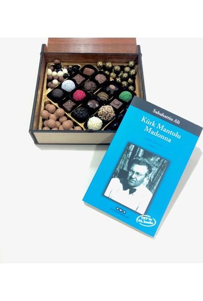 İnci Çikolata Kişiye Özel Ahşap Kitap Kutulu Çikolata Kitap Hediyeli 250 gr