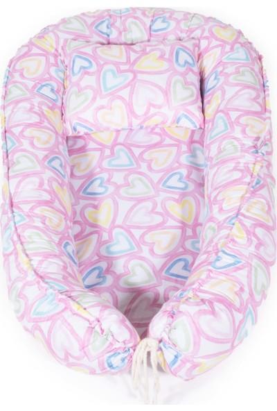 Svava Babynest Bebek Uyku Yatağı ve Yastığı Bebek Yuvası Pembe