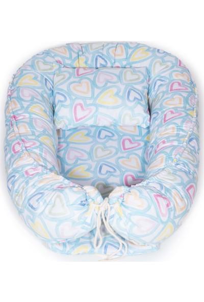 Svava Babynest Bebek Uyku Yatağı ve Yastığı Bebek Yuvası Mavi