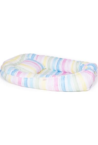 Svava Babynest Bebek Uyku Yatağı ve Yastığı Bebek Yuvası Beyaz