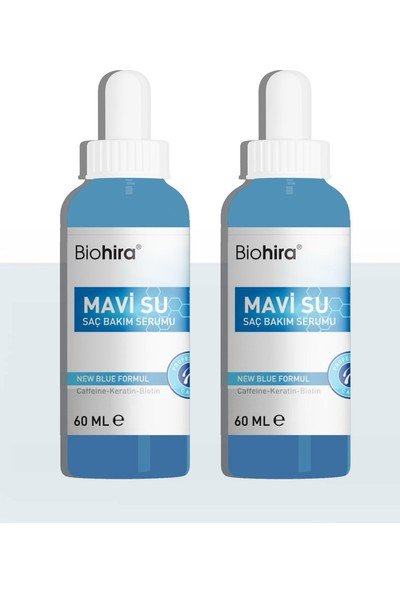 Biohira Saç Serumu Mavi Su Bandrollü 2 Adet 60 ml