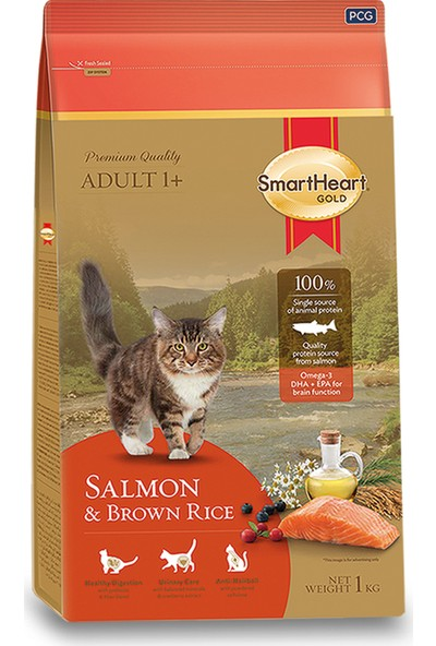 SmartHeart Gold Salmon & Brown Rice Cat Food 3 kg