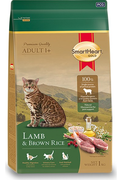 SmartHeart Gold Lamb & Brown Rice Cat Food 7 kg