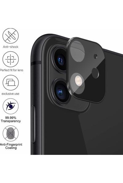 Microsonic Apple iPhone 11 Kamera Lens Koruma Camı - Siyah
