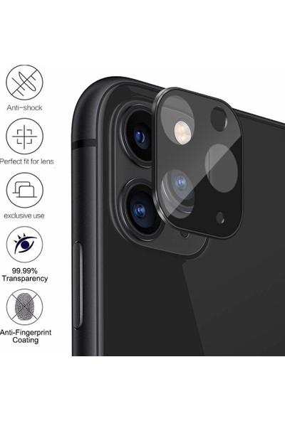 Microsonic Apple iPhone 11 Pro Kamera Lens Koruma Camı - Siyah