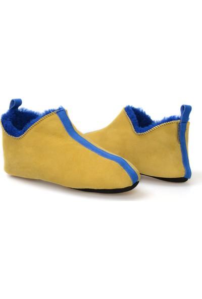 Pegia Hakiki Kürklü Süet Erkek Ev Ayakkabısı 111009