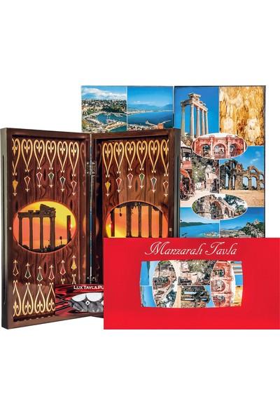 Sedef Okey Eser Manzaralı Polyester Tavla Antalya Turistik