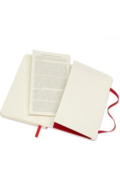 Moleskine Dotted Notebook 9x14 cm Cep Boy Noktalı Defter Kırmızı KC4627