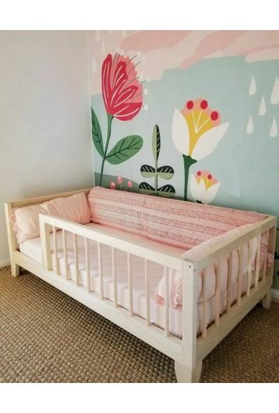 Köşk Mobilya Montessori Yatak Doğal Ahşap