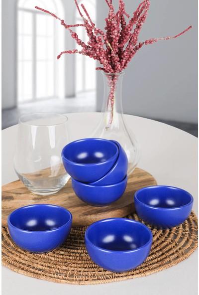 Keramika Mat Efe Mavi Bulut Çerezlik/Sosluk 8 Cm 6 Adet