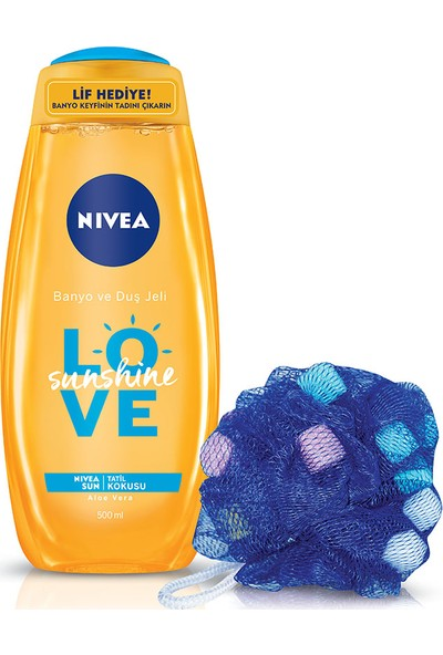 Nivea Sunshine Love Banyo Ve Duş Jeli 500 ml + Lif