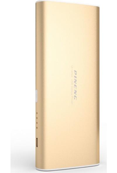 Pineng PN-998 10000 mAh Çift Çıkışlı Hızlı LED Göstergeli Powerbank - Gold