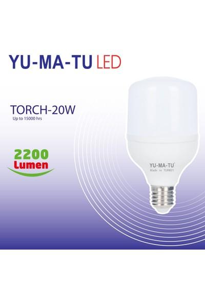 Yumatu 20 WE27 Torch LED Ampul 6'lı