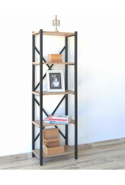 Metal Ahşap Kitaplık Raf Seti Ofis Büro K080