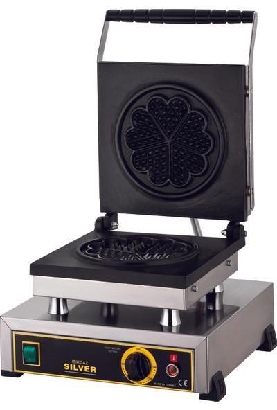 Silver Çiçek Model Waffle Makinesi Elektrikli