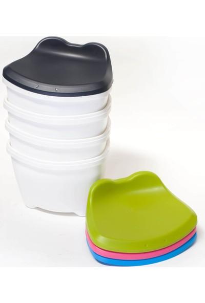 Hipaş Plastik Kapaklı Tabure -Oyuncak Saklama Kutusu- Pembe
