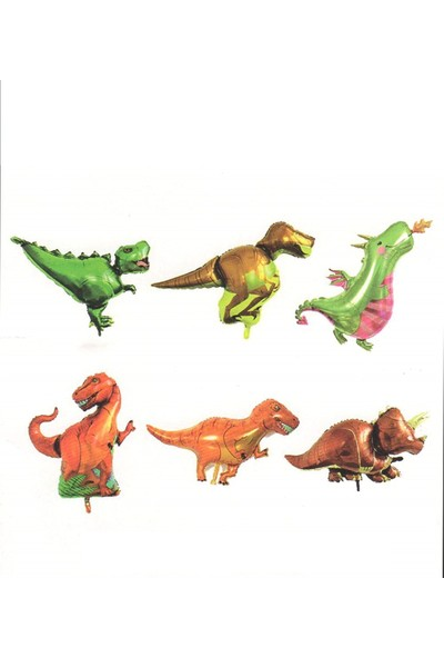 Buldum Jurassic 6'lı Dinazorlar Folyo Balon Seti 35 cm