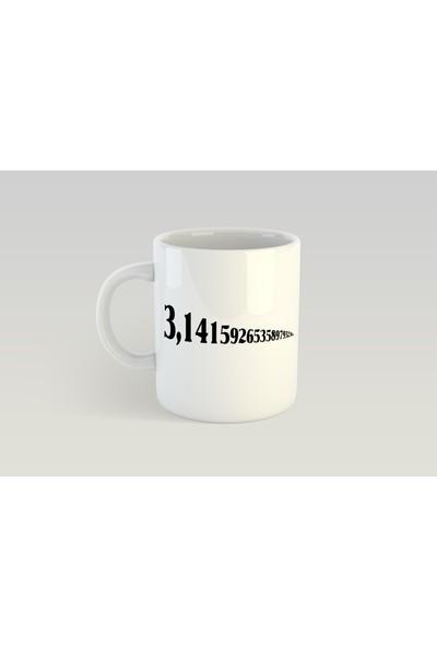 Minimalist Pi Tasarımlı Kupa