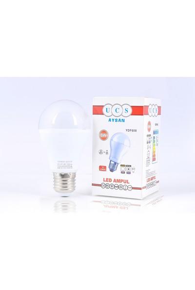 Ucs Aysan 12 Volt 8W 6500K Beyaz LED Ampul