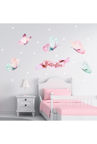 Sim Tasarım Kelebek Temalı Duvar Sticker Seti
