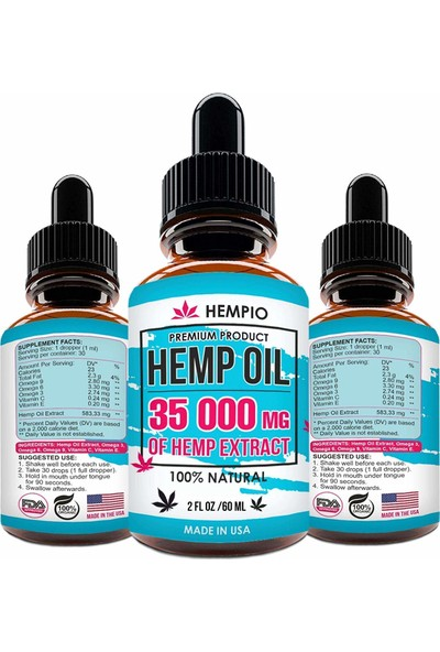 Hemp Oil Kenevir Özü 60 ml ( Fda Onaylı )